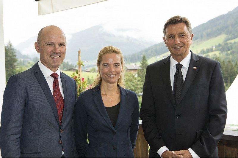 Urška Starc-Peceny and Tomi Ilijaš with president Borut Pahor