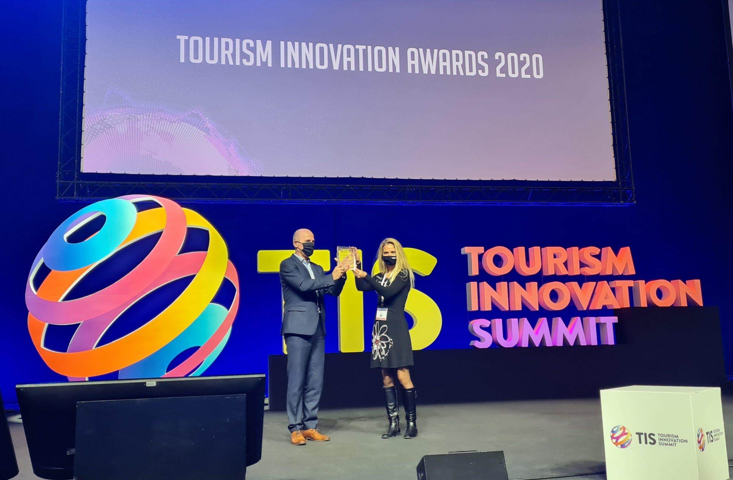 Receiving the award at TIS